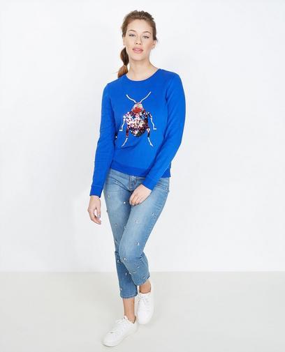 Koningsblauwe sweater